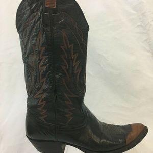 Nocona Cap Toe Cowboy Western Boots Womens 8.5 B